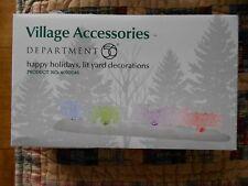 Dept 56 General Village Accessories Happy Holidays, Lit Yard Decorations Nib (B)