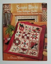 Sampler Blocks from Antique Quilts Booklet by Donna Wilder Book Magazine LQ