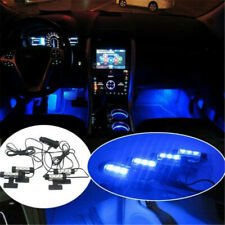Car Charge Interior Accessories Car Atmosphere Lamp 4x 3LED Floor Decor Lights d