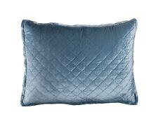Lili Alessandra Chloe Quilted 1Ice Blue Standard  Sham Modern Home Decor Velvet