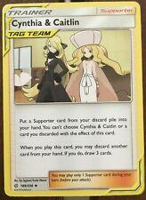Pokemon Card Trainer  CYNTHIA & CAITLIN  189/236  COSMIC ECLIPSE  **MINT**