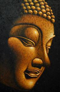 GOLD BUDDHA CANVAS PAINTING