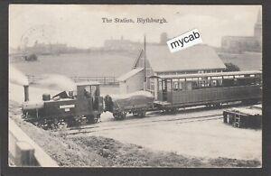 Postcard Blythburgh Railway Station nr Southwold Suffolk steam train posted 1910