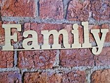 Wooden Family Sign- wall art decor rustic family wood decoration families sign