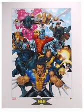 X-Men Lithograph by Salvador Larroca Marvel Comics Wolverine Colossus Cable