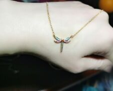 Authentic Thomas Sabo Glam & Soul Gold Plated Dragonfly NecklaceRRP£149
