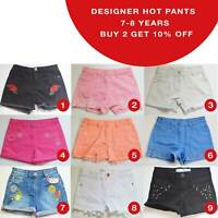 Girls Denim Hot Pants Shorts 7-8 Years Brand New MORE THAN 50% OFF(HT7-8-1)