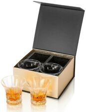 KANARS Whisky Glass, Lead Free Crystal Whiskey Tumbler, Unique Stylish Gift Box