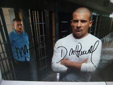 Photo Prison Break autographe 2 signatures par Wentworth Miller Dominic Purcell