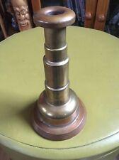 Trench Art Brass & Copper Candlestick