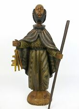 """16"""" Guatemalan Hand Carved Wooden St. Saint Peter Santo Statue"""