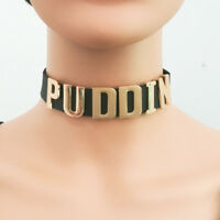 US Harley Quinn Puddin Choker Black Necklace Fancy Cosplay Prop Collar Halloween