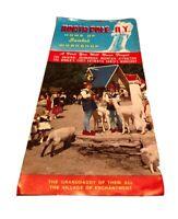 Santas Workshop North Pole NY 1959 Mini Souvenir 10 Print Photo Album & Brochure