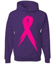 Pink Ribbon Breast Cancer Awareness Hoodie Hope Fight Survivor Sweatshirt