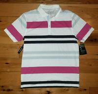 Mens Nike Dri-Fit Striped Short Sleeve Polo Shirt Striped Size S New NWT $85