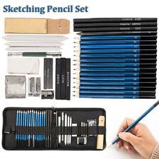 36tlg Profi Charcoal Skizze Bleistift Sketch Skizzieren Schreibwaren Set