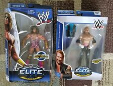 LOT OF 2 WWE HALL OF FAMERS ELITE 26 + 36 ULTIMATE WARRIOR + DIAMOND DALLAS PAGE