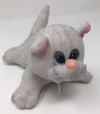 """Tonka Pound Puppy Purries Purry Kitty White & Gray Stripes 8"""" Plush"""