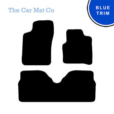 Renault Megane Scenic 1996-2003 Fully Tailored Black Carpet Car Mats & Blue Trim