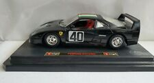 Burago 1/24 Scale Metal Model 1987 Ferrari F40 Black, Made In Italy