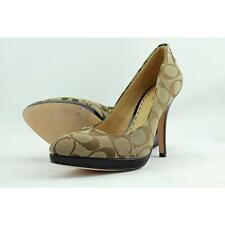 Coach Caya Women US 6 Tan Heels Pre Owned  1273
