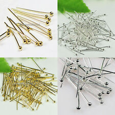 1000pcs! Silver/Golden Copper Ball Head Pins 18mm,20mm,30mm,35mm,40mm,45mm,50mm