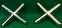 SNOOKER/POOL CHROME/BRASS CROSS REST HEAD  ..FREE DELIVERY