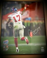 Plaxico Burress Signed Autographed Framed SB XLII 16X20 Photo New York Giants