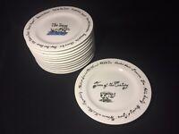 "POTTERY BARN ""Millennium"" 12 Salad Dessert Plates 8 1/4"" Complete Set"