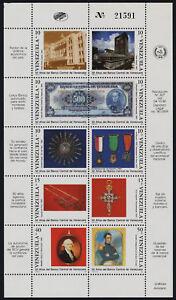 Venezuela 1439 MNH Central Bank of Venezuela, Bank Note, Medals, Architecture