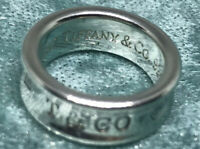 TIFFANY & CO 1837 CONCAVE BAND RING SIZE 4.5 Sterling Silver 925