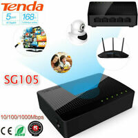 Tenda SG105 5-Port Desktop Gigabit Switch Ethernet Network Switch LAN Hub L&6