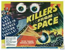 KILLERS FROM SPACE LOBBY CARD POSTER HS 1954 PETER GRAVES BARBARA BESTAR