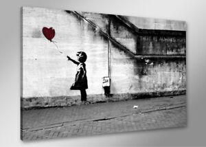 Bilder auf Leinwand bansky 80cm XXL 4165 + Alle Wandbilder fertig gerahmt