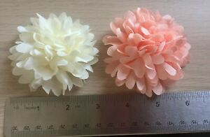 3D Flower from £0.99 IVORY/PINK 3 inch/8 cm, SEW-ON, BEAUTIFUL A+++