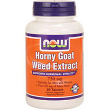 Horny Goat Weed Extract 90 Tabs 750 mg by Now Foods