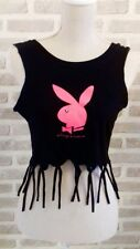 Playboy bunny T Shirts cropped & tasseled. Hen Parties