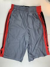 Under Armour UA Mens LOOSE Athletic Basketball Running Shorts Gray Red SZ Small
