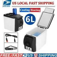12V 6L Car Portable Mini Fridge Cooler Warmer Refrigerator Heater Box Travel