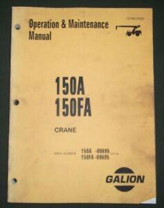 KOMATSU GALION 150A 150FA CRANE OPERATORS OPERATION & MAINTENANCE BOOK MANUAL