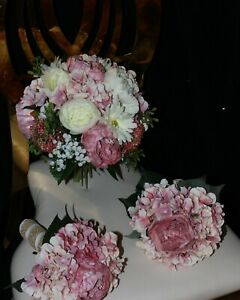 Wedding Bouquets, Bridal Vintage Rustic/Dusty Pink/Blush Pink & Ivory