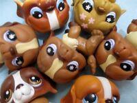 Littlest Pet Shop Lot 2 Random St Bernard Puppy Dogs Authent BUY3 GET 1 FREE