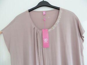 Basler Silky Top Size 24 Nude Colour Metallic bead detail to neckline. BNWT