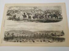Harper's Weekly Woodblock -7/18/1863(2 nice scenes shown)[#47]