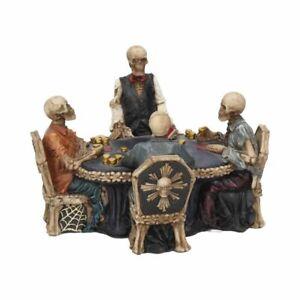 Nemesis Now  END GAME  Skeleton Poker Game Ornament  Gothic Vamp