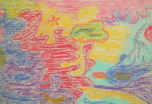Vintage abstract pastel painting