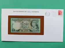 1979 Northern Ireland One Pound Uncirculated Franklin Mint BanknoteCoverSNo46080