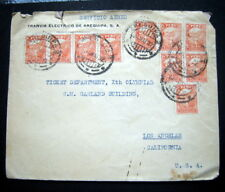 MEXICO AREQUIPA S.A. 1932  COVER .TO TICKED DEPARTMENT Xth OLYMPIAD LOS ANGELES