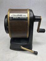 Vintage Berol VacuHold Apsco V-10WG Pencil Sharpener Vacuum Mount Desk USA