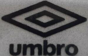 Black Retro Umbro diamond logo rounded corners Heat Press on football shirt
